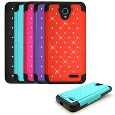 Phone Case for AT&T ZTE Maven 2 GoPhone, Studded Crystal Bling Cover Case