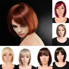 "12"" Short Straight BOB Wig Women Black Blonde Brown Top-quality Synthetic Wigs"