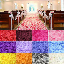 1000pcs Silk Flowers Rose Petals Wedding Birthday  Party Decorations 7 Colors EV