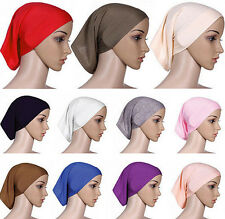 Head Scarf Cover Underscarf Islamic Bonnet Cotton Women Headwrap Hijab Muslim