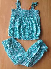 NWT Gymboree Safari Sparkle  SZ 4 5 6 Batik Aqua Tank Pants 2pc SET Girls