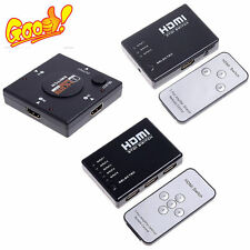 HDMI Switch Switcher Selector Splitter +Remote; Connect 5 devices to HDFY