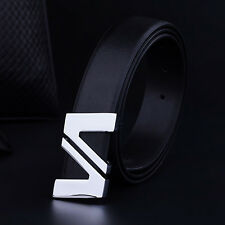 Men Leather Designer Belt Waist Strap Letter Alloy with Automatic Smooth Buckle