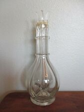 Vintage Hand Blown Glass 4-Chamber Liquor Decanter Made in France