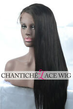 Best Indian Remy Human Hair Lace Front Wigs Black Women Silky Straight Full Wig