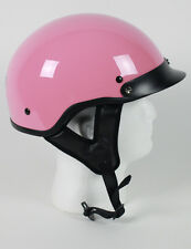 D.O.T PINK MOTORCYCLE HALF HELMET BEANIE HELMETS SHORTY LIGHTER NEW