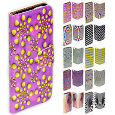 For OPPO R7 R9s - Optical Illusion Print Flip Wallet Phone Case Cover