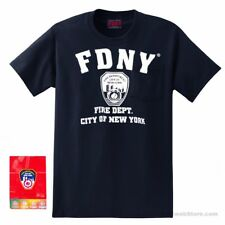 Navy FDNY T-Shirt Fire Department, FDNY Shirt in Adult Sizes, Official NYC Gift