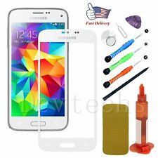 Replacement Front Touch Screen Glass Lens/Tools/Glue For Samsung Galaxy S5 White