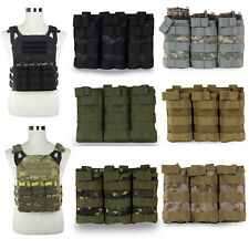 Airsoft Tactical MOLLE Fast Triple 5.56 Magazine Mag Pouch Rifle M4/M16 Holder