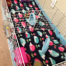 "Fleece cage liner with 6"" sides 18x30 C&C 2 layers of fleece uhual inside"