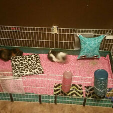 Fleece cage liner 2x6 C&C 2 layers of fleece with uhual inside guinea pig rabbit