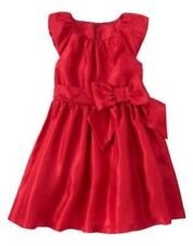 New Gymboree Christmas Dress Party Plaid Red Shimmer Bow Size 5