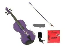 """New Purple Viola & Bow+Case+2 Sets of Strings+Rosin+Tuner 16""""15""""14""""13""""12""""11""""10"""""""