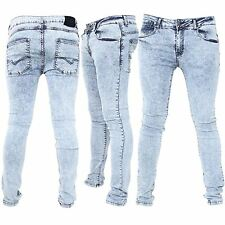 Seven Series Mens Designer Rich Pocket Cotton Distressed Acid Denim Biker Jeans