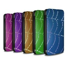 STUFF4 PU Leather Case/Cover/Wallet for Apple iPhone 6S/Spider Web Pearls
