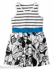 NWT Gymboree Island Hopper Striped Floral Flower Dress 5/5T 6 8