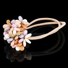 Bohemian Style Colorful Beads Elastic Ponytail Holder Women Hair Accessories