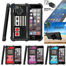 "For Apple iPhone 7 (4.7"") Grip Dual Bumper Stand Case Game Controller"