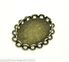 Wholesale HOT Bronze Tone Oval Cabochon Frame Settings 23x18mm(Fit 18x13mm)