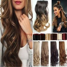 New Real as human Hair Extensions Ombre Full Head Clip in on Hair Extension H827
