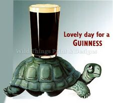 RETRO METAL PLAQUE :Guinness Lovely Day for a Guinness (Turtle) sign/ad
