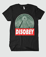 DISOBEY ILLUMINATI T-SHIRT MEN DOPE SWAG HIPSTER OBEY