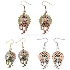 Vintage Steampunk Women Earring Long Earring Octopus Dangle Drop Gothic Jewelry