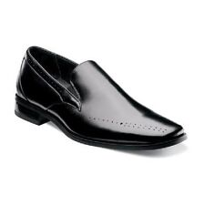 New Stacy Adams Mens Arledge Shoes Black Leather Plain toe slip-on 24994-001