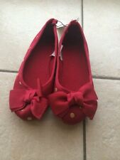 NEW Gap kids Polka Dot Red bow dress Shoes size 1 2 13