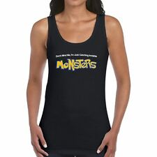 Dont Mind Me, Im Just Catching Invisible MONSTERS Woman's Custom Tank Top