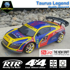 1/10 RC Drift Car 2.4GHz Radio Control Racing Car 4WD Drifter LED Light Kid Gift