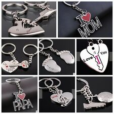 Fashion  1 Pair Gift Key Buckle Alloy Metal Ring Chain Car Keychain For Lovers