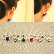2PCS Non Piercing Silver Plated Cartilage Ear Cuff Earrings Wrap Clip On Jewelry