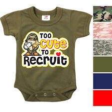 Camouflage Infant Bodysuit Toddler One Piece Baby Suit