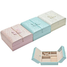 PU Leather Jewelry Jewellery Gifts Storage Display Organizer Case Boxes Box AT