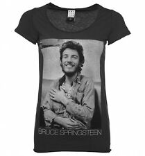 Women's Charcoal Bruce Springsteen Vintage T-Shirt from Amplified