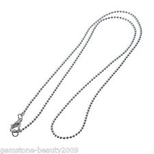 "Wholesale HOT Ball Chain Necklaces Silver Plated 50.9cm(20"")long"