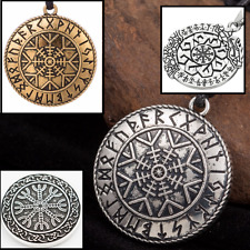 Aegishjalmur Viking Rune Pendant Helm of Awe Necklace Asatru Pagan Jewelry