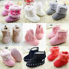 Cute Baby Child Boys Girls Warm Snow Boots Fur Winter Toddler Crib Shoes 0-18M