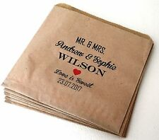 Personalised Vintage Brown Kraft Paper Sweet Bags for Wedding Sweet Buffet Candy