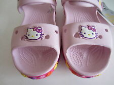 Girls Crocband K Hello Kitty Sandal Bubblegum/Fuchsia J1 (R41A) (MIXED BOX)