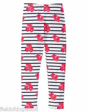 NWT Gymboree Pretty Poppy Striped Flower Leggings SZ 7-8 Girls