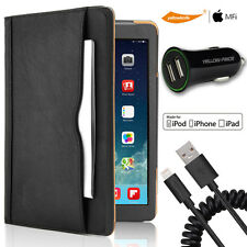 [3 in 1]iPad Mini 123 Smart Sleep Case+Certified Lightning Cord/2.4A Car Charger