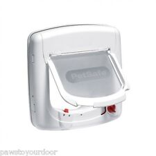 Staywell Petsafe 500 Infra Red White 4 Way Locking Cat Flap & Colour Collar Key