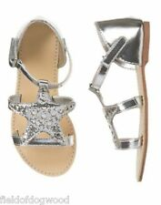 NWT Gymboree TIDE POOL silver star sandals Sz 9,10,11,12,13,1,2,3 Girl