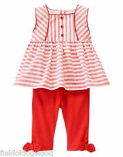 NWT Gymboree State Fair Day Red Swing top capri Leggings Set 0 3 6 12 18-24mo