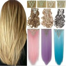 Natural As Human Thick Hair 18 Clips In Hair Extension Full Head Accessory H84