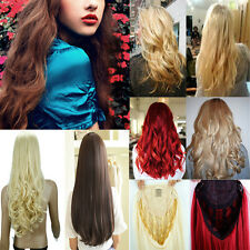 Premium Long Lady 3/4 Full Wig Fall Half Wig Clip In Hair Piece Real Thick ltd