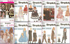 OOP Daisy Kingdom Simplicity Sewing Pattern Child Girl Misses with 18 inch Doll